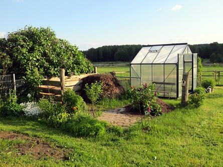 Ein Gewächshaus für den Garten