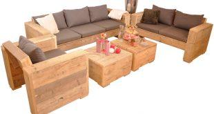 Loungeset Bauholz Gento 310x165 - Draußen zu Hause mit Lounge Gartenmöbeln