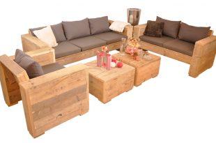 Loungeset Bauholz Gento 310x205 - Draußen zu Hause mit Lounge Gartenmöbeln