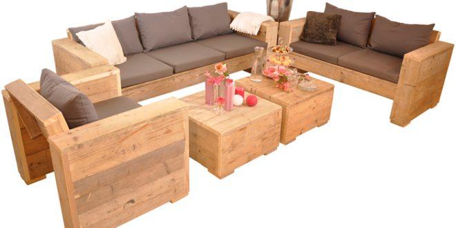 Loungeset Bauholz Gento 660x330 - Draußen zu Hause mit Lounge Gartenmöbeln