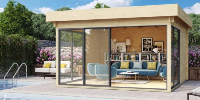 Gartenhaus & Pool – Luxus pur im eigenen Garten